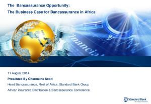 The Bancassurance Opportunity: The Business Case for Bancassurance in Africa