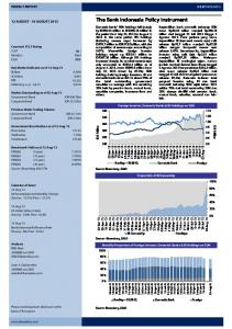 The Bank Indonesia Policy Instrument