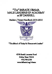 The BARACK OBAMA MALE LEADERSHIP ACADEMY at BF DARRELL
