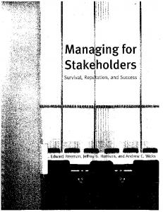 The Basic Framework. conflicting stakeholder interests will