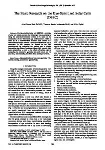 The Basic Research on the Dye-Sensitized Solar Cells (DSSC)