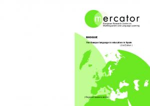 The Basque language in education in Spain