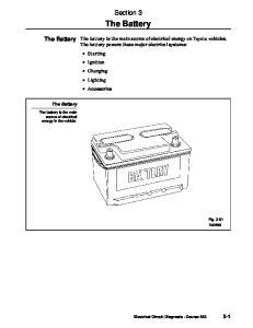The Battery. Section 3. The Battery. The Battery