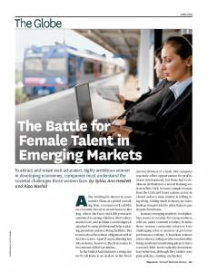 The Battle for Female Talent in Emerging Markets