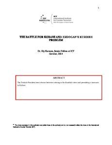 THE BATTLE FOR KOBANI AND ERDOGAN S KURDISH PROBLEM