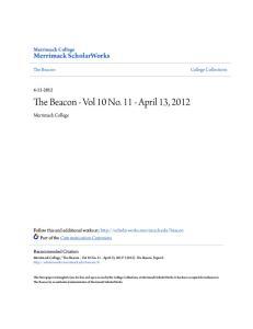 The Beacon - Vol 10 No April 13, 2012