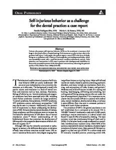 The behavioral and biochemical aspects of self-injurious