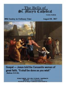 The Bells of St. Mary s Cathedral Weekly Bulletin