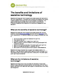 The benefits and limitations of assistive technology