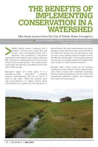 THE BENEFITS OF IMPLEMENTING CONSERVATION IN A WATERSHED
