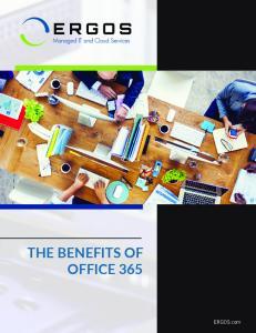 THE BENEFITS OF OFFICE 365. ERGOS.com ERGOS.com