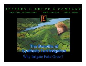 The Benefits of Synthetic Turf Irrigation Why Irrigate Fake Grass?