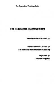 The Bequeathed Teachings Sutra