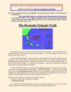 The Bermuda Triangle Truth