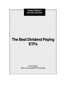 The Best Dividend Paying ETFs