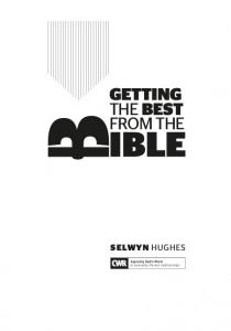 the Best from the selwyn hughes Applying God s Word to everyday life and relationships