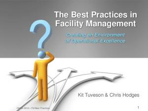 The Best Practices in Facility Management