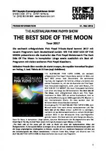 THE BEST SIDE OF THE MOON Tour 2017