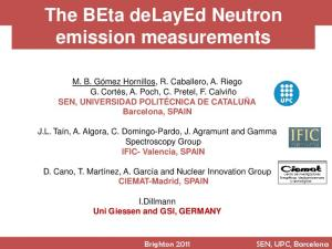 The BEta delayed Neutron emission measurements