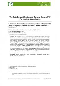 The Beta-Delayed Proton and Gamma Decay of 27 P For Nuclear Astrophysics
