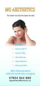 The better we look the better we feel BOTOX. Dermaroller. Dermal Filler. Mesotherapy. Hyperhidrosis. Chemical Peel