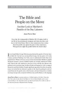 The Bible and People on the Move