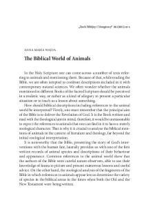 The Biblical World of Animals