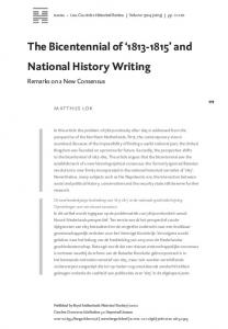 The Bicentennial of and National History Writing