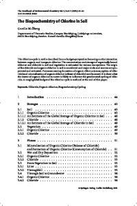 The Biogeochemistry of Chlorine in Soil