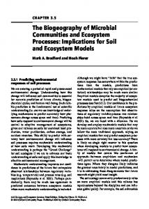 The Biogeography of Microbial Communities and Ecosystem Processes: Implications for Soil and Ecosystem Models