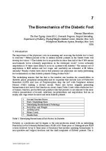The Biomechanics of the Diabetic Foot