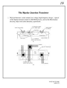 The Bipolar Junction Transistor