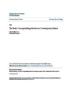 The Body: Conceptualizing Abortion in Contemporary Ireland