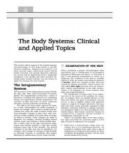 The Body Systems: Clinical and Applied Topics