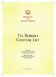 The Boisdale Cocktail List