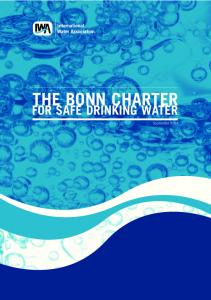 THE BONN CHARTER FOR SAFE DRINKING WATER