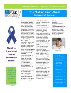 The Bottom Line About Colorectal Cancer