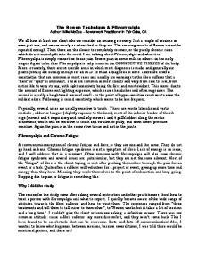 The Bowen Technique & Fibromyalgia