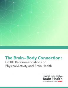 The Brain Body Connection: GCBH Recommendations on Physical Activity and Brain Health