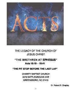 THE BRETHREN AT EPHESUS