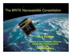 The BRITE Nanosatellite Constellation