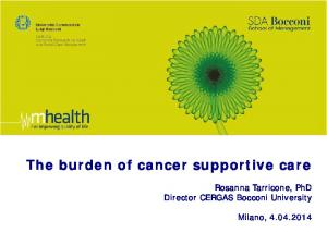 The burden of cancer supportive care