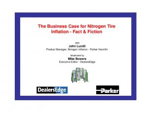 The Business Case for Nitrogen Tire Inflation - Fact & Fiction