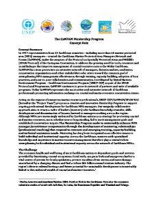 The CaMPAM Mentorship Program Concept Note