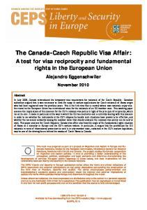 The Canada-Czech Republic Visa Affair: