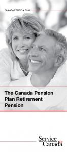 The Canada Pension Plan Retirement Pension