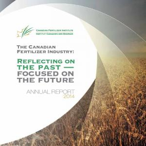 The Canadian Fertilizer Industry: ANNUAL REPORT