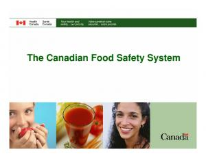 The Canadian Food Safety System