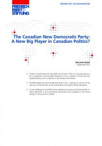 The Canadian New Democratic Party: A New Big Player in Canadian Politics?