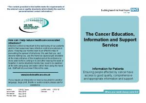The Cancer Education, Information and Support Service
